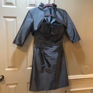 Marisa Baratelli 100% Thai Silk cocktail dress 6